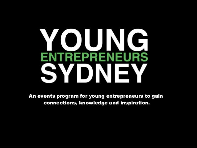 An events program for young entrepreneurs to gainconnections, knowledge and inspiration.