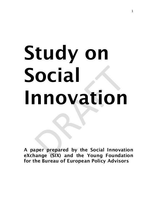 Study on sociali nnovation