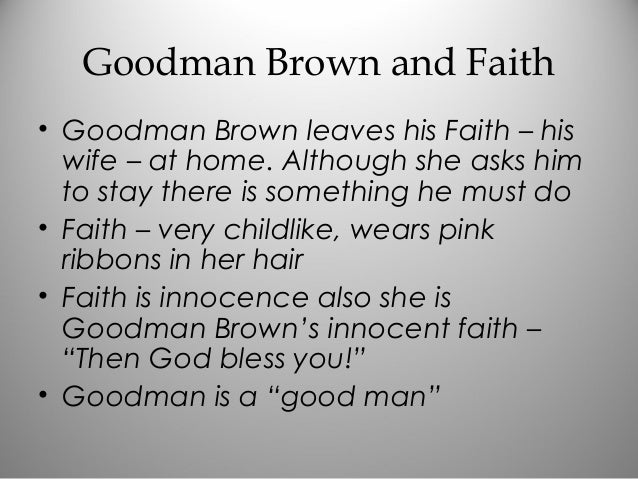 young goodman brown symbolism essay young goodman brown in class notes