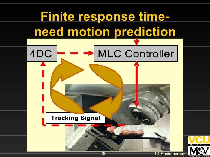 Finite response time- need motion prediction