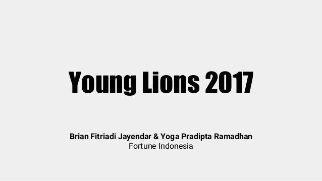 Young Lions 2017 Brian Fitriadi Jayendar & Yoga Pradipta Ramadhan Fortune Indonesia