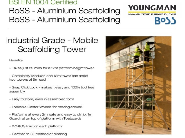 Indoor Scaffolding Max Height : Youngman india presentation safe work at height