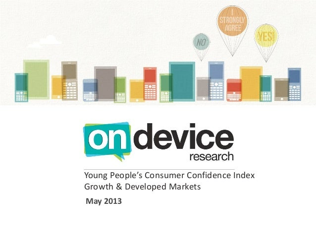 Young People's Consumer Confidence IndexGrowth & Developed MarketsMay 2013