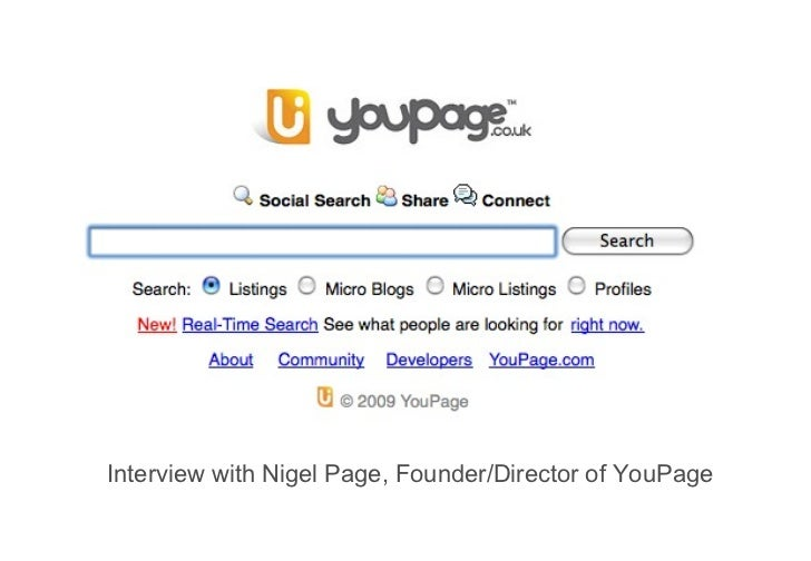 Interview with Nigel Page, Founder/Director of YouPage