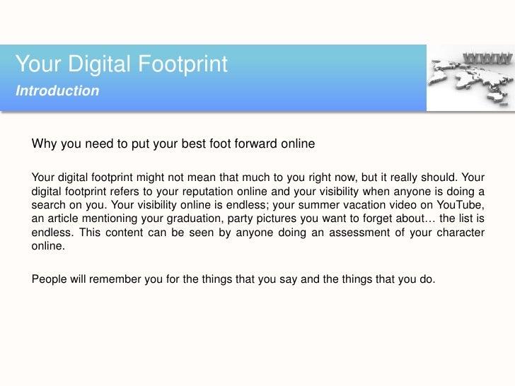 Your digital footprint in a social media world Slide 3
