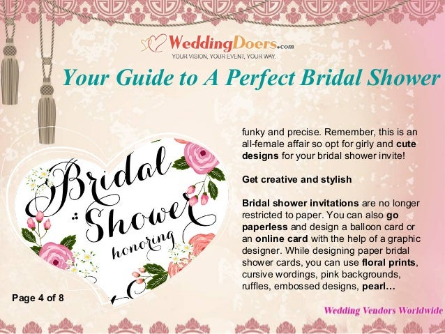 your guide to a perfect bridal shower invitation card