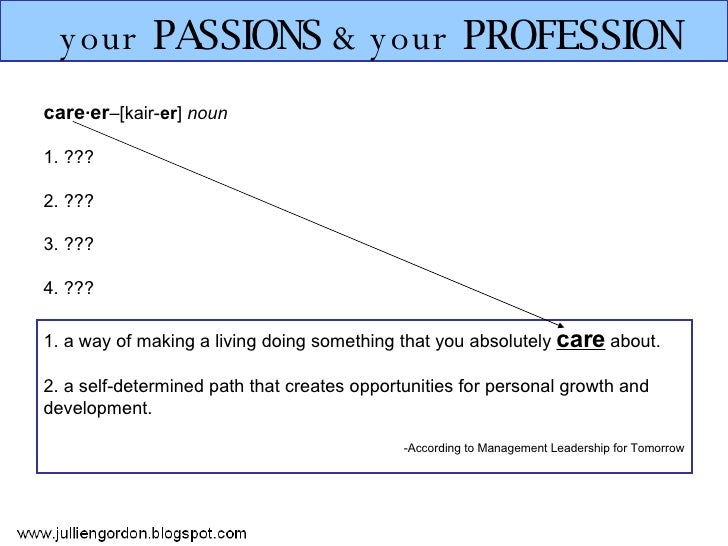 Your Passions & Your Profession Slide 2