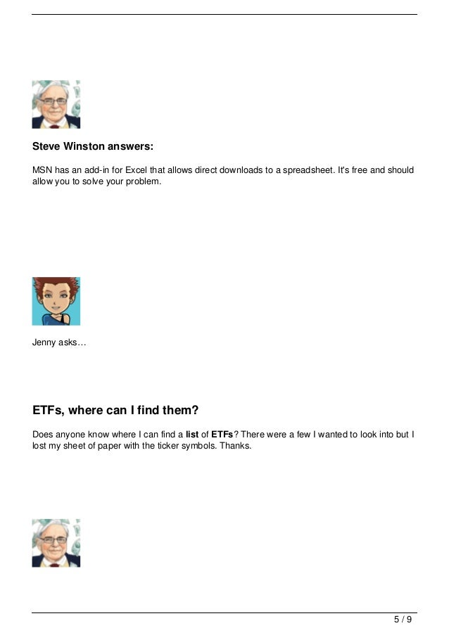 Your Questions About Etfs List