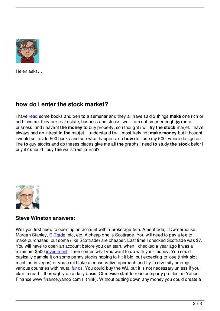 How To Make A Book Quiz : Your questions about how to make money in the stock market