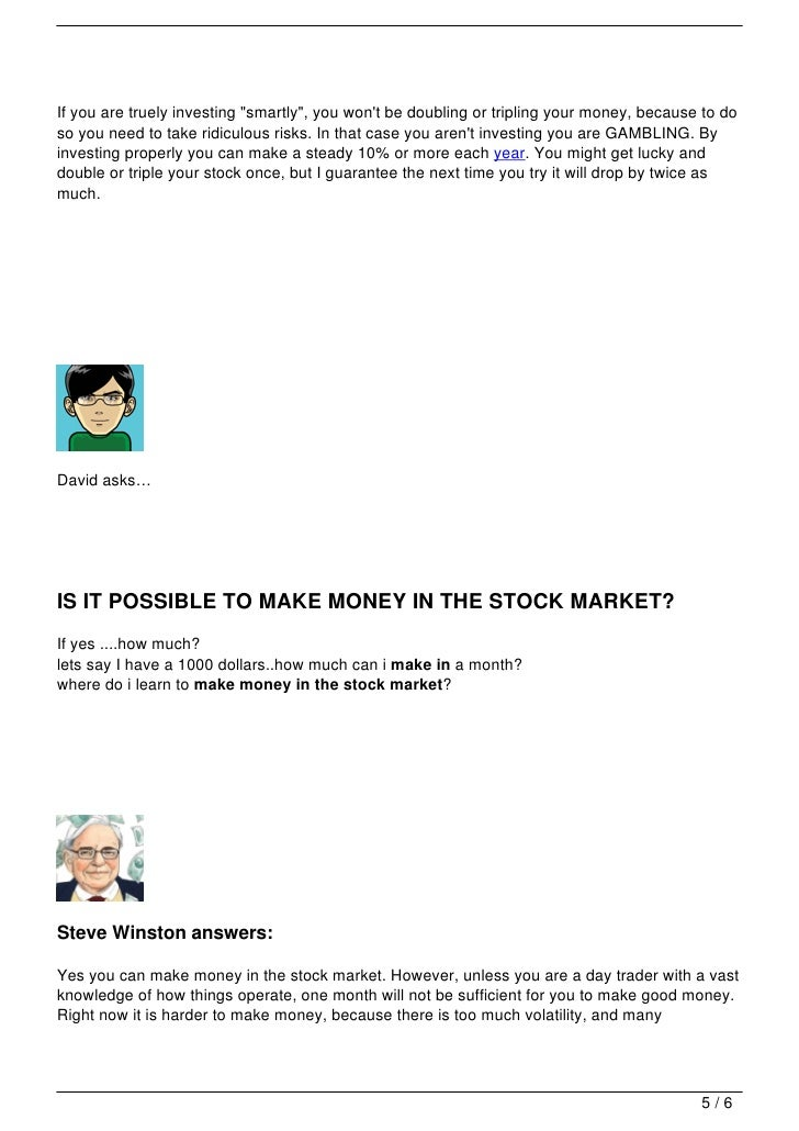 Make money stock options