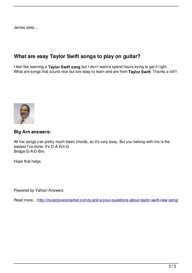 Your Questions About Taylor Swift New Song