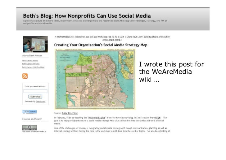 I wrote this post for the WeAreMedia wiki …