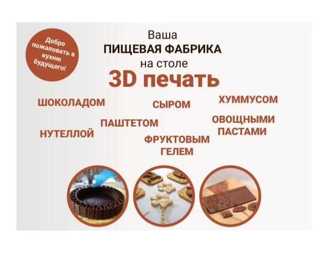 Your 3d print food  factory