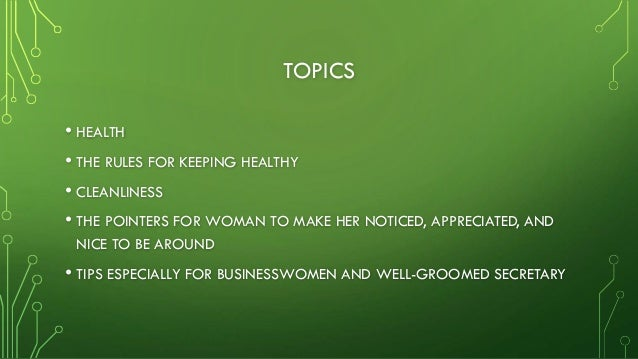 Your appearance Slide 2