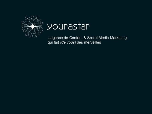 L'agence de Content & Social Media Marketingqui fait (de vous) des merveilles