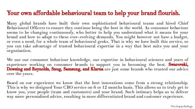 Your Chief Behavioural Officer - Our New Service Slide 2