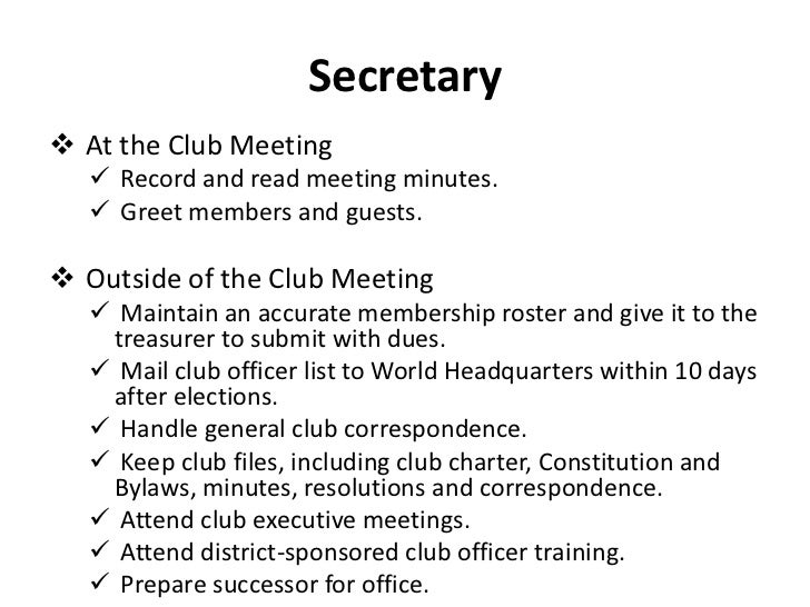 club meeting minutes