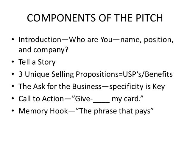 60 second pitch in 60 minutes lunch learn a
