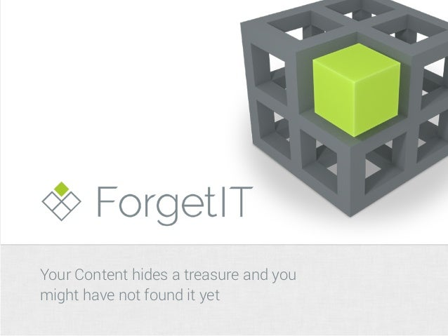 Your Content hides a treasure and you  might have not found it yet