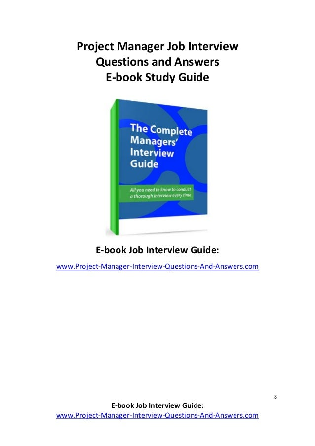 8 8 e book job interview - Answering Job Interview Questions Part 2