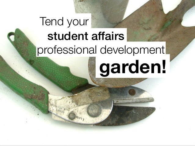 Tend your garden! professional development student affairs