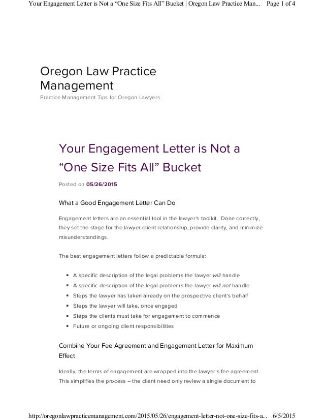 your engagement letter is not a one size fits all bucket posted on 05