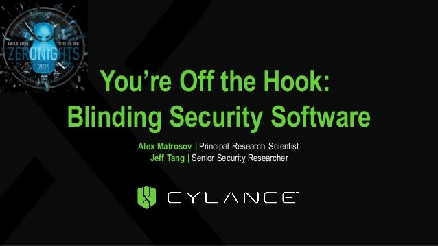 You're Off the Hook: Blinding Security Software