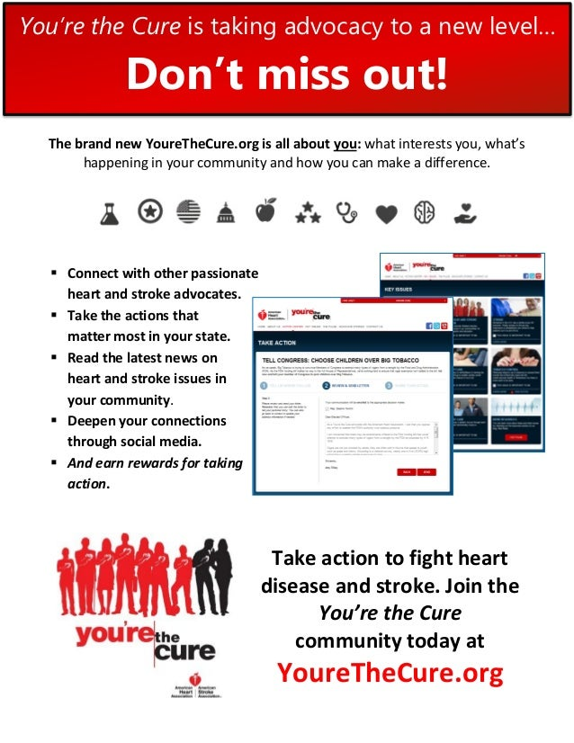 You're the Cure is taking advocacy to a new level…              Don't miss out!  The brand new YoureTheCure.org is all abo...