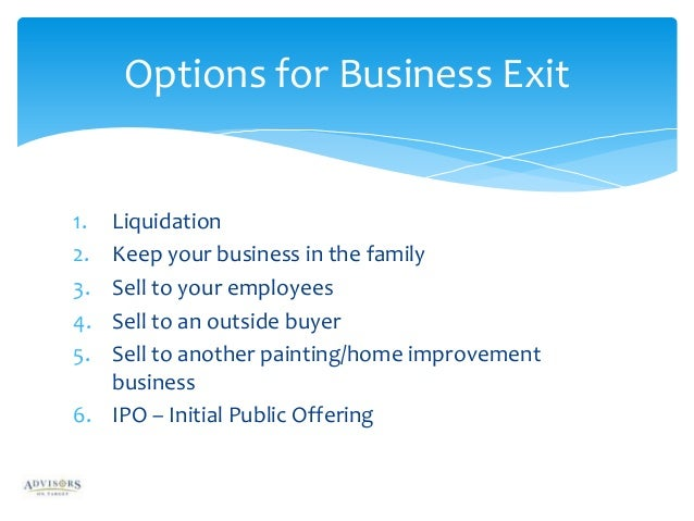 types of exit strategy