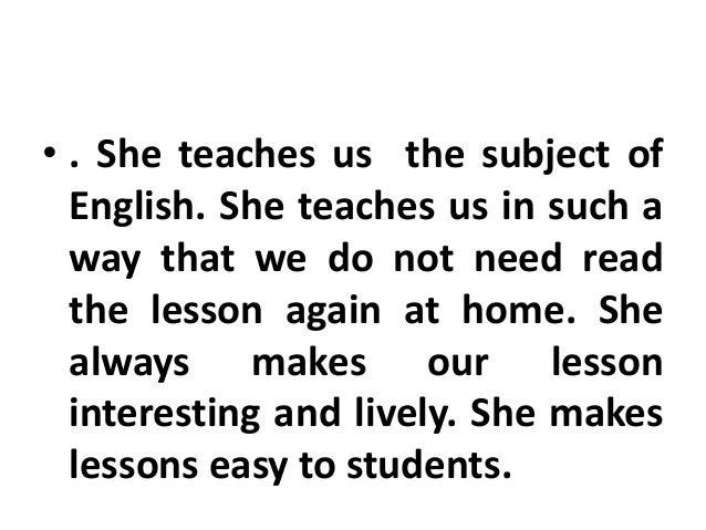 favourite teacher essay