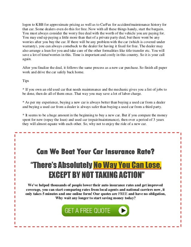 Car maintenance insurance quotes online compare
