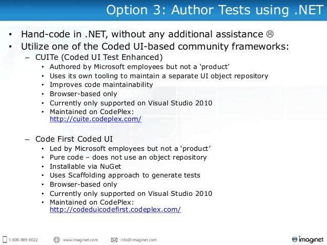 Getting Started with Visual Studio's Coded UI Testing
