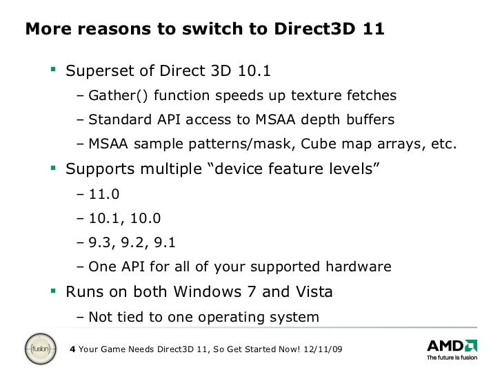 Your Game Needs Direct3D 11, So Get Started Now!
