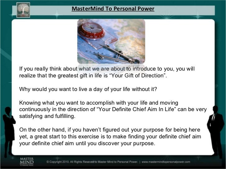 MasterMind To Personal Power If you really think about what we are about to introduce to you, you will realize that the gr...