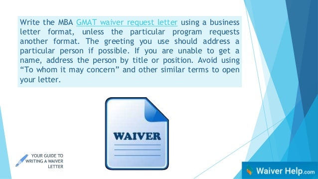Your Guide to Writing a Waiver Letter