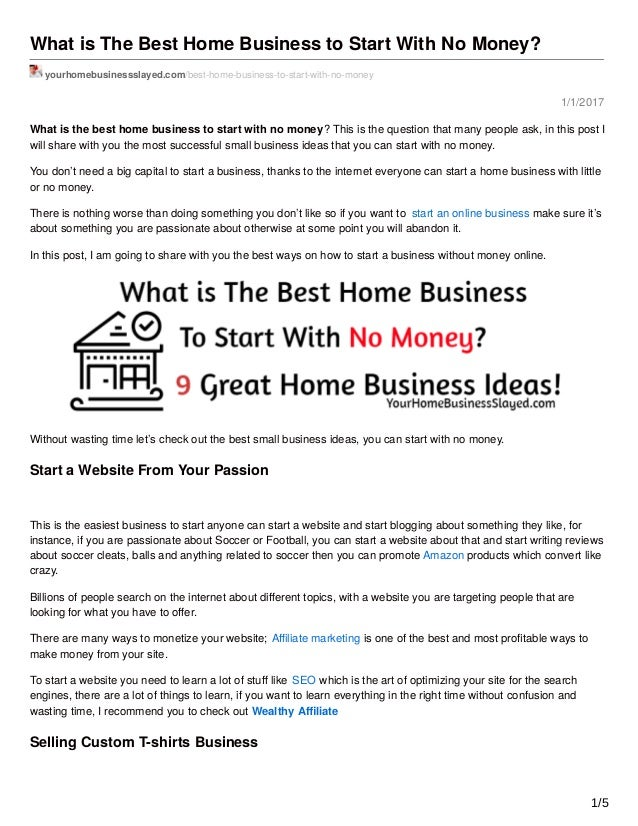 how to choose the best business to start