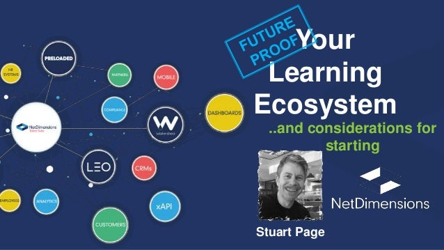 Your Learning Ecosystem Stuart Page ..and considerations for starting