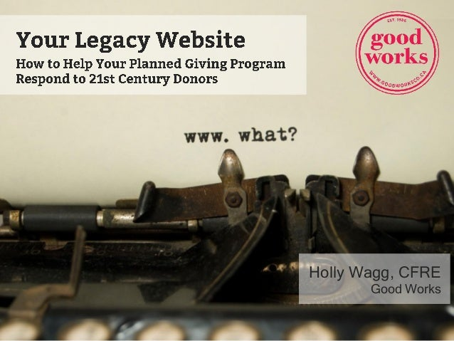 Holly Wagg, CFRE Good Works