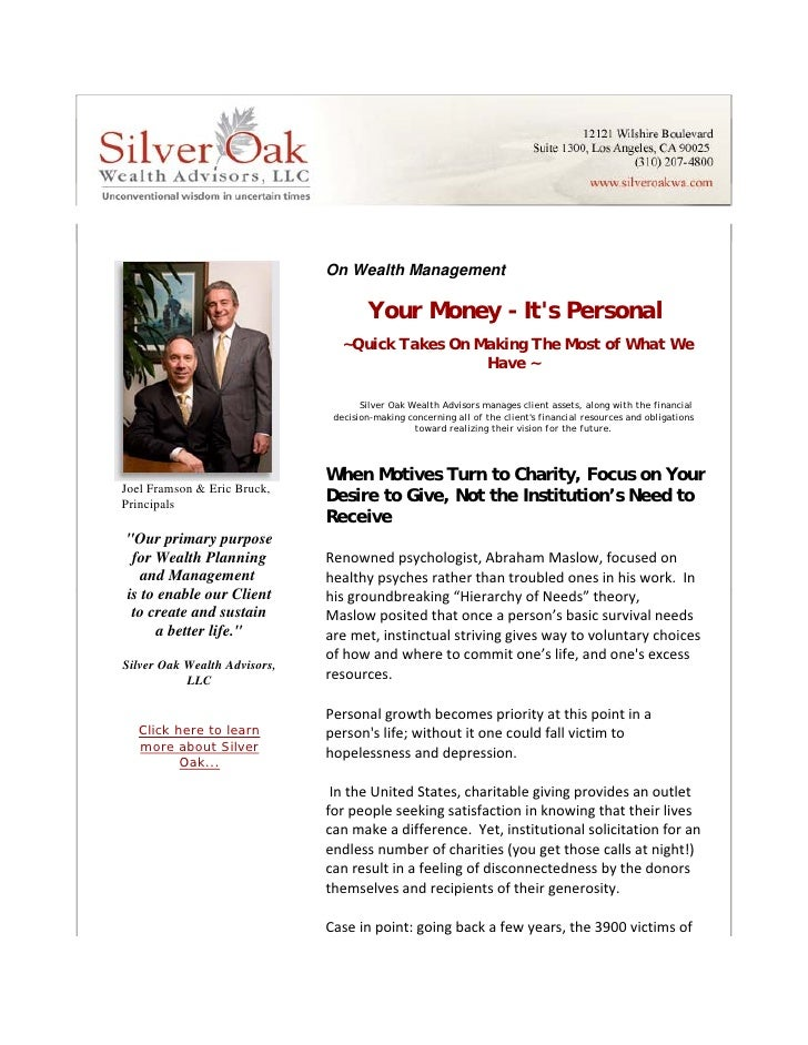 On Wealth Management                                            Your Money - It's Personal                                ...
