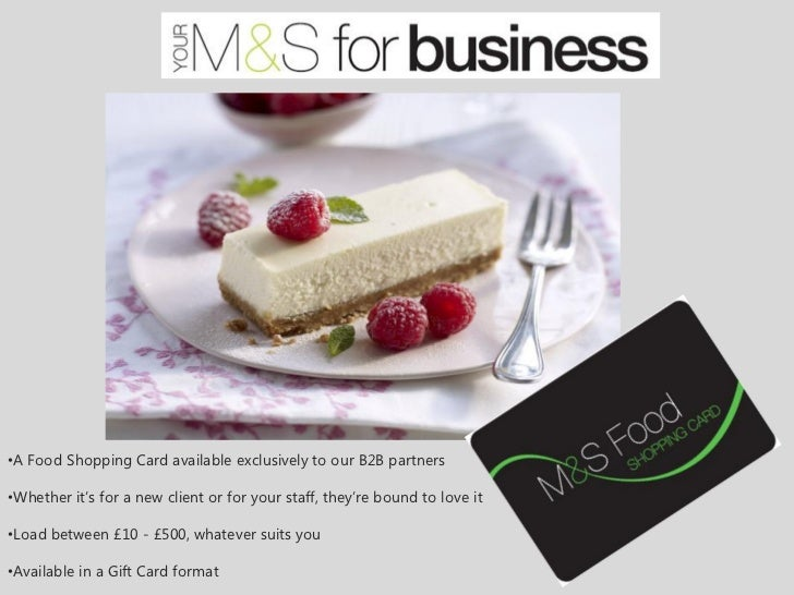 •A Food Shopping Card available exclusively to our B2B partners•Whether it's for a new client or for your staff, they're b...