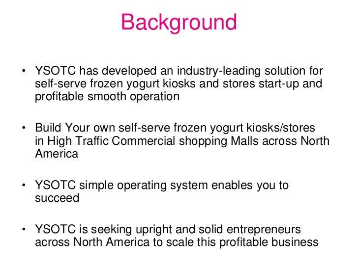 self serve frozen yogurt business plan