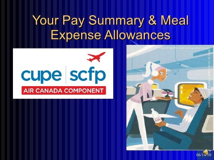 Your Pay Summary & Meal Expense Allowances 06/14/10 <ul><ul><li></li></ul></ul>