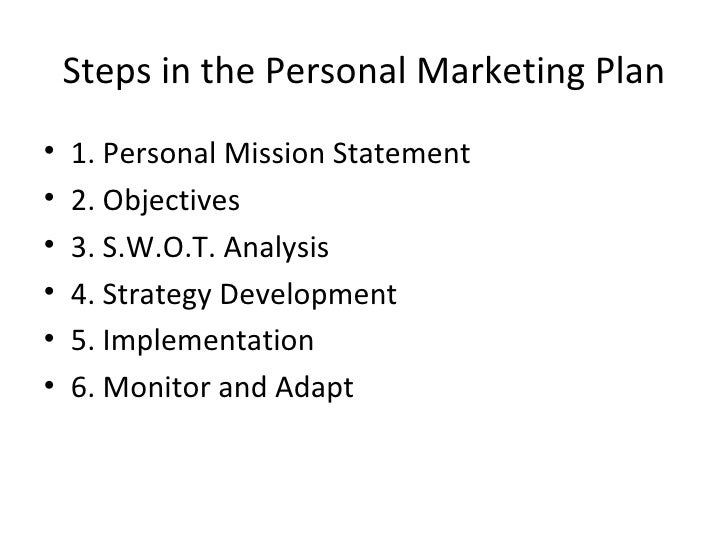 Your Personal Marketing Plan