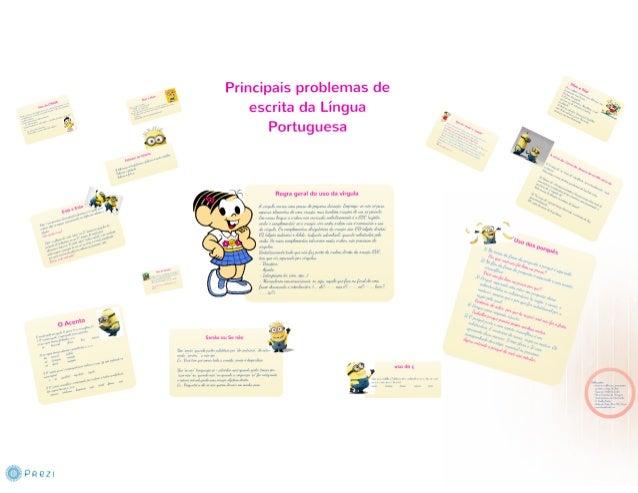 prezi, principais problemas de escrita da Língua Portuguesa