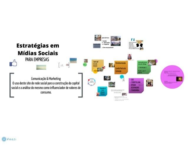Estratégias em mídias sociais para empresas