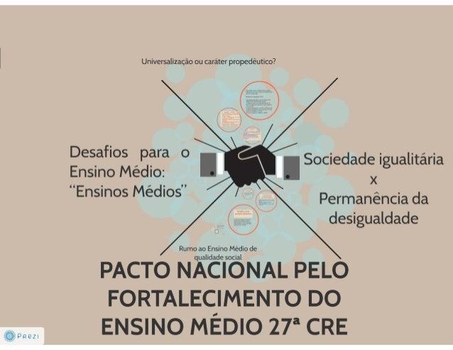 PACTO ENSINO MÉDIO 27ª CRE RS