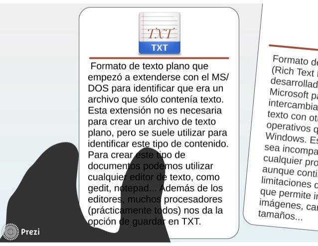 formatos de texto