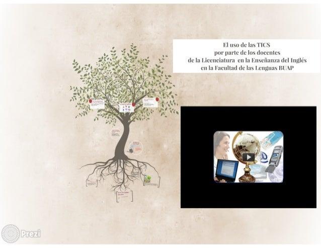 El uso dc las TICS por parte dc los (lnccnlcs (le la Licenciatura cn la linscñzulza del lilgjlés en la Facultat] (lolas Le...