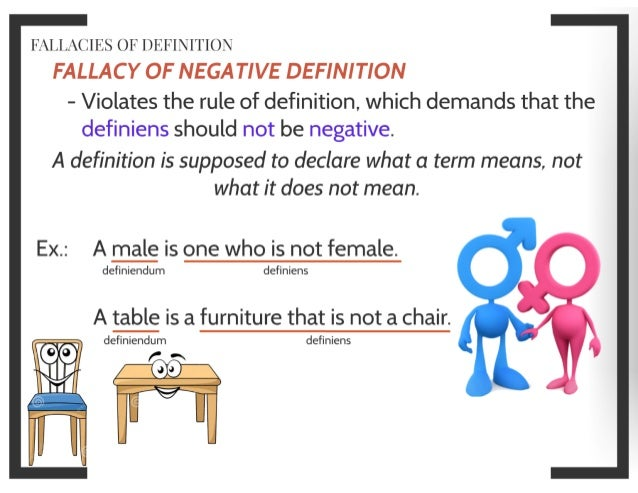 FALLACIES OF DEFINITION ...