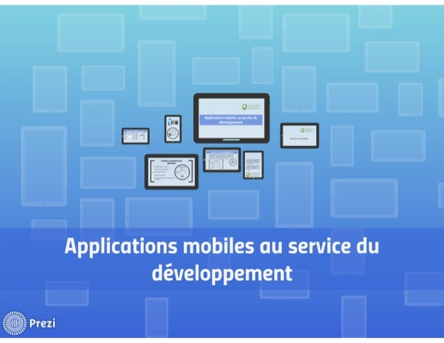 Application mobile au service du developpement